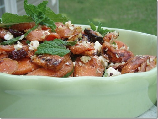 Coconut Roasted Carrot Salad