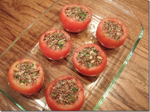 summer herbed stuffed tomatoes