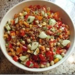 Mother's Day wheatberry salad