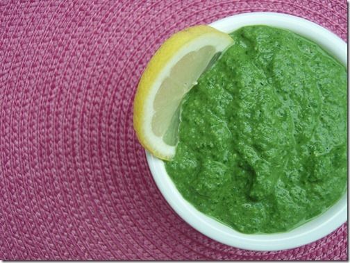 Everything green citrus pesto