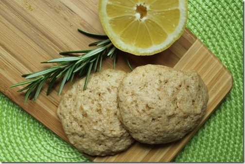 Lemon Rosemary Olive Oil Cookies