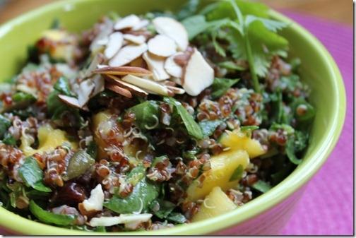 Quinoa mango spinach salad