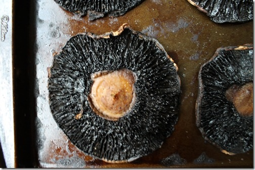 Roasted portobello mushrooms