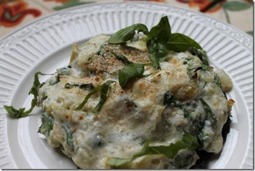 Spinach and Cheese Stuffed Portobello Mushrooms