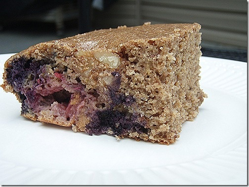 berry almond walnut protein cake bars