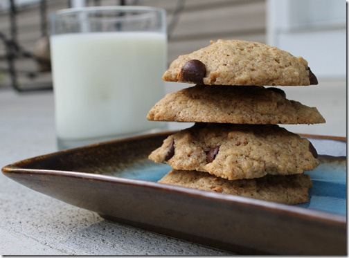 coconut oil almond butter chocolate chip cookies