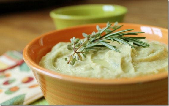Lemon Rosemary Thyme Avocado Hummus