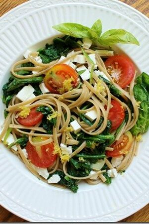 Lemon Spinach and Feta Pasta