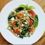 Lemon Spinach Feta Pasta