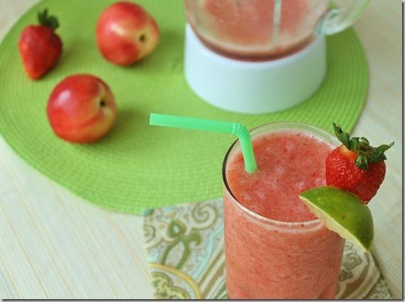 Strawberry Nectarine Smoothie