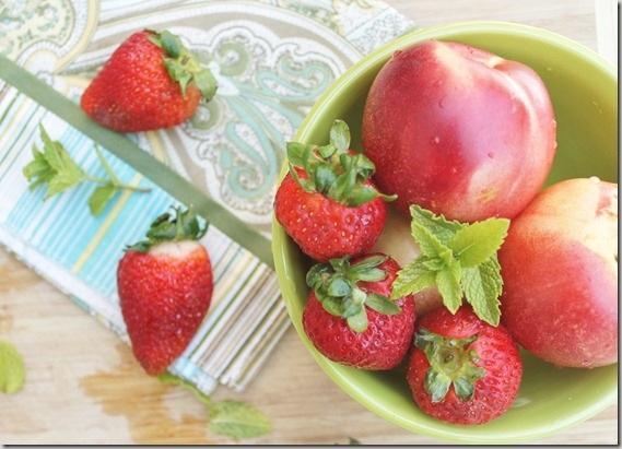 Strawberry nectarine bellini