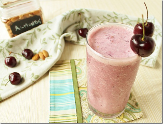 Cherry Almond Vanilla Smoothie