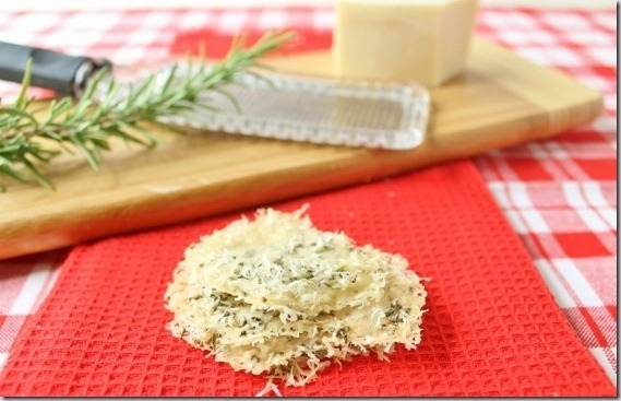 2 Ingredient Parmesan Crisps with Rosemary
