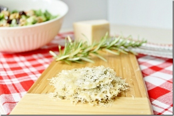 2 Ingredient Rosemary Parmesan Crisps