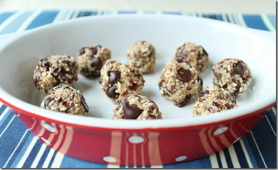 Cherry Coconut Chocolate Chip Balls