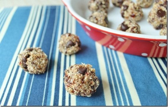 Cherry Coconut Chocolate Chip Dough Bites
