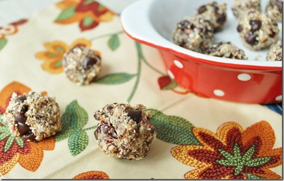 Coconut Cherry Chocolate Chip Balls