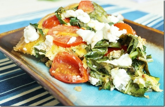 Collard Green Frittata with Goat Cheese