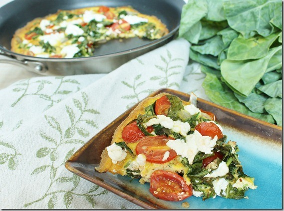 Collard Green Goat Cheese Frittata