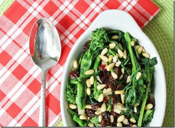 Sweet and spicy Broccoli Rabe Saute