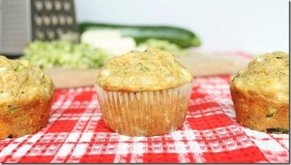 Zucchini Feta Olive Oil Muffins