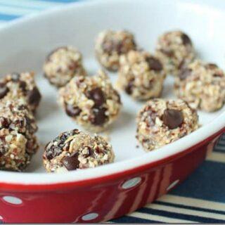 Cherry Coconut Chocolate Chip Dough Balls