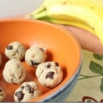 Cashew Banana Chocolate Chip Dough Bites