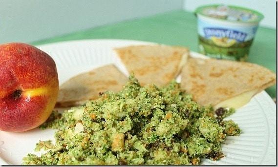 Chopped Broccoli Apple Raisin Salad