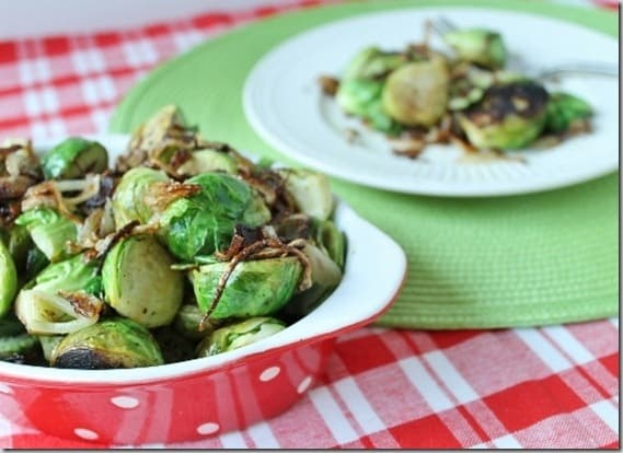 Crispy Shallot Brussels Sprouts