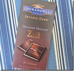 Ghirardelli 72% chocolate