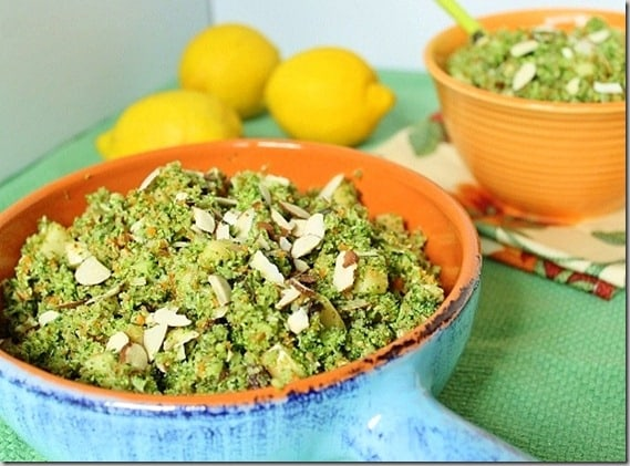 Lemon Broccoli Apple Raisin Salad