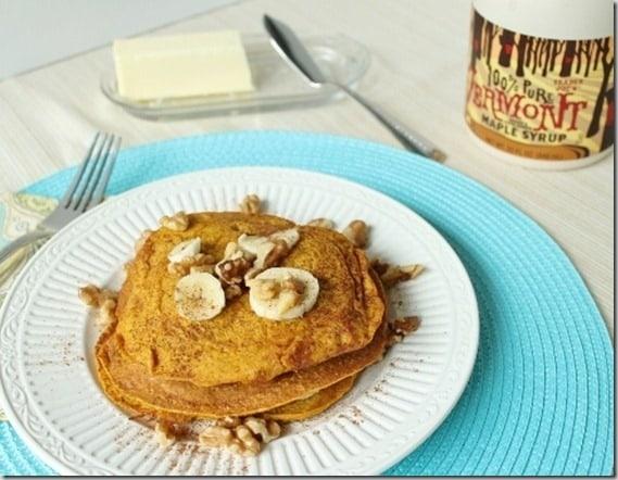 Oat Pumpkin Pancakes