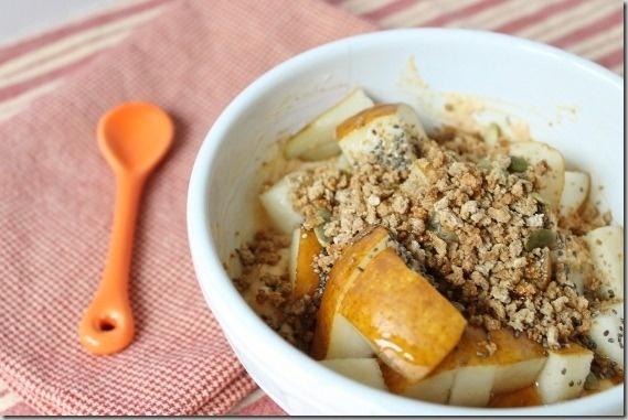 Pumpkin yogurt bowl
