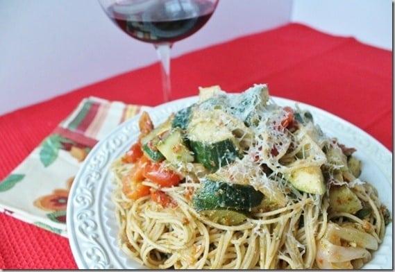 Sundried Tomato Pesto and Pantry Pasta