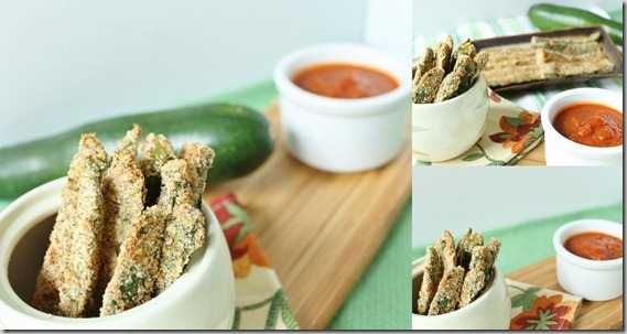 Healthier baked zucchini fries