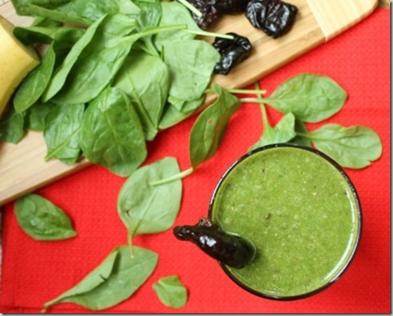 Healthy green prune smoothie