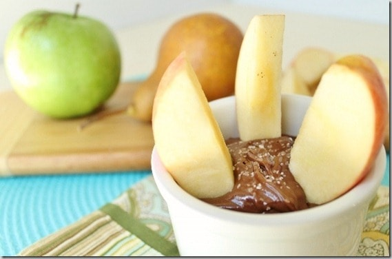 Chocolate Sunflower Seed Butter Dip with Salt