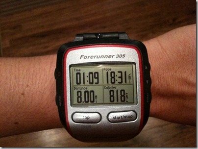 8 mile run statistics