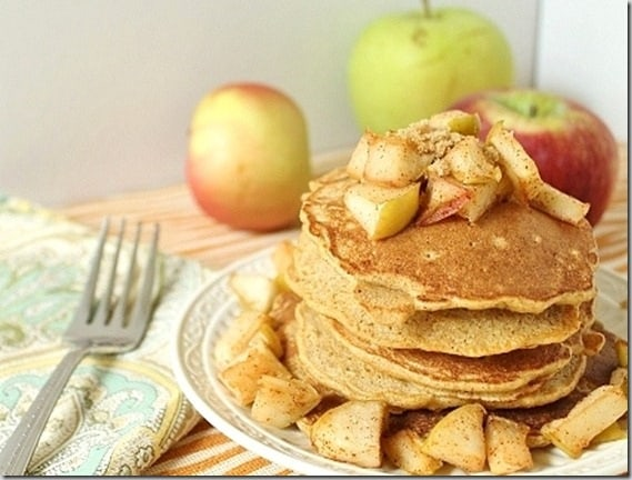 Cinnamon Apple Pancakes are the perfect way to start a fall day.