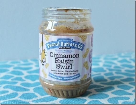 Cinnamon raisin swirl peanut butter