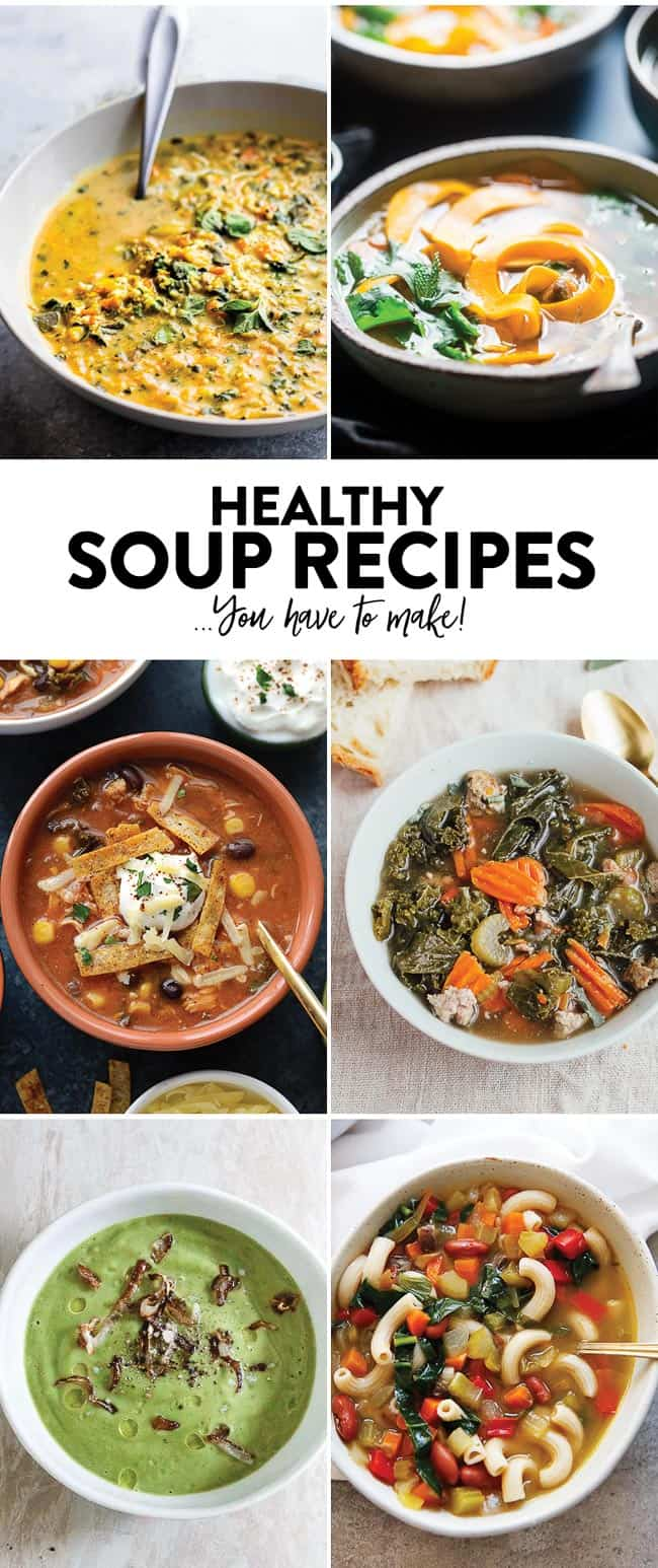 Healthy Soup Recipes for fall!