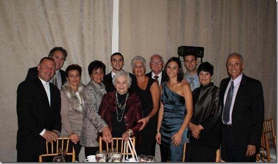 Family at awards ceremony