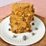 Pumpkin Walnut Chocolate Chip Cake Bars