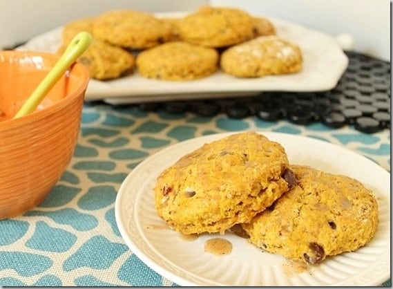 Pumpkin Chocolate Chip Scones