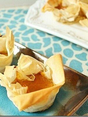 Pumpkin Pie Phyllo Bites