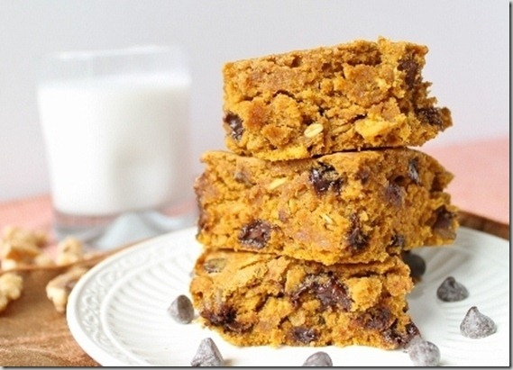 Pumpkin Walnut Chocolate Chip Bars