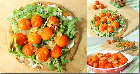 Roasted Tomato Flat Bread Pizza