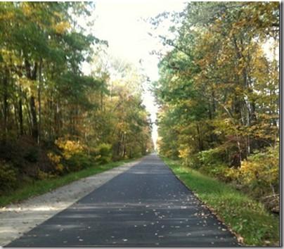 bike trail 5 mile run