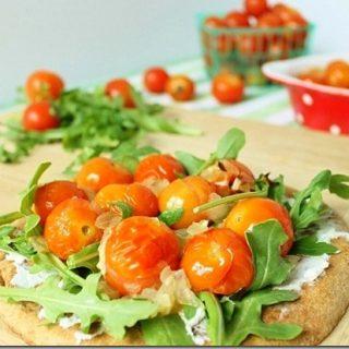 Roasted Sherry Tomato Flat Bread Pizza