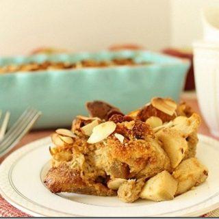 Panettone Apple Bread Pudding
